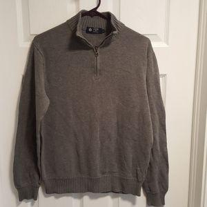 j. crew grey zip sweater (free bonus)